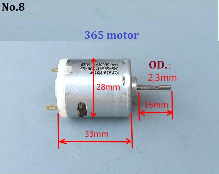 1PCS Micro 020 Motor DC1.5-3.7V 7500-18500RPM High Speed DC Motor For DIY Parts