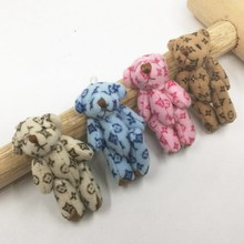 4.5cm Cartoon Lovely Plush Cloth Mini Teddy Bear Joint Tactic Bear Pendants For Keychain/Bouquet Stuffed Dolls Urso de peluche(China)