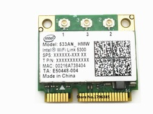 SSEA Free Shipping for Intel WIFI Link 5300 AGN 533AN_HMW Half Mini PCI-E 2.4G/5GHZ Dual Band Wireless Wlan Card 450 Mbps
