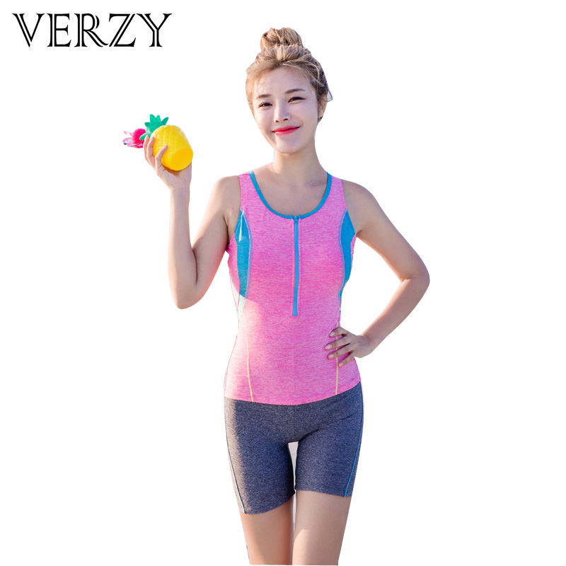 New 2017 One Piece Swimsuits Women Racer Swimwear For Ladies 2 Colors Low Neck Monokini Padding Bathing Suits With Zipper M-2xl<br>
