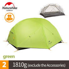 Naturehike Factory Store DHL free shipping Mongar 2 Camping Tent Double Layers 2 Person Waterproof Ultralight Dome Tent(China)