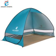 KEUMER Automatic Opening Beach Tent Sun Shelter UV-Protective Tent Shade Pop Up Open for Outdoor Camping Fishing 200*120*130cm