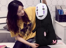 Free shipping 60cm Spirited Away No Face Ghost Kaonashi Plush Pillow Staffed Creative Plush Toy for christmas gift