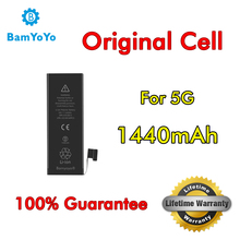 10pcs---(Original Cell)---Battery For iPhone 5 5G Battery 0 Cycle Full Capacity 1440mAh Lifetime Warranty(China)