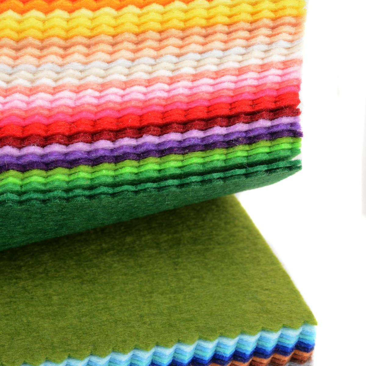 41pcs 41 Colores Fieltro Hojas Lana Poliester Mezcla Tela Kit
