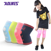AOLIKES 1Pair Children Knee Support Kids Knee Protection Crawling Sport Safety Fitness Knee Pad Dance Soccer Skating Kneecap(China)