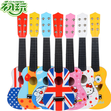 musical instruments cartoons wooden guitar For Children toy High Quality 6 Strings Early childhood education toys boy girl kids(China)