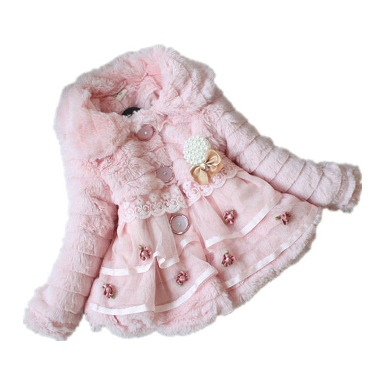 2-6T Retail Junoesque Baby Toddlers Girls Faux Fur Fleece Lined Kids Winter Warm Jacket Girls New Baby Girl Winter Coat 2017 HOTОдежда и ак�е��уары<br><br><br>Aliexpress