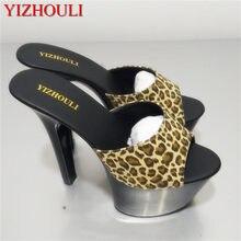 Venta caliente 6 pulgadas de tacón alto sandalias nueva moda mujeres  vestido Sexy zapatos 17 cm zapatos de cristal zapatos baila. 96a63f10e16a