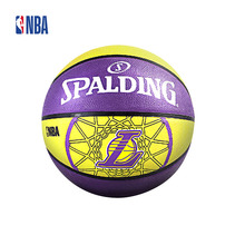 Original NBA Spalding The Logo Of Los Angeles Lakers Sports Ball Rubber Ball Outdoor 7# Official Standard Size 83-156Y SBD0071A(China)