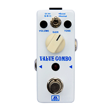 Valve Gombo Amp Simulator Guitar Effect Pedal Classic Tube Overdrive Tone Effects for Electric Guitar  AA Series True bypass
