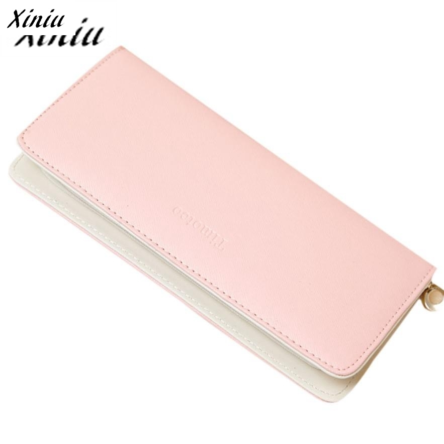 Xiniu Womens Wallets And Purses Solid Candy Color Pure Long Purse Credit Card Holder Billetera Mujer #2805<br><br>Aliexpress