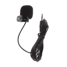 Black 3.5mm Mini Studio Speech Mic Conference Microphone Clip On Lapel for Conference PC Desktop Notebook