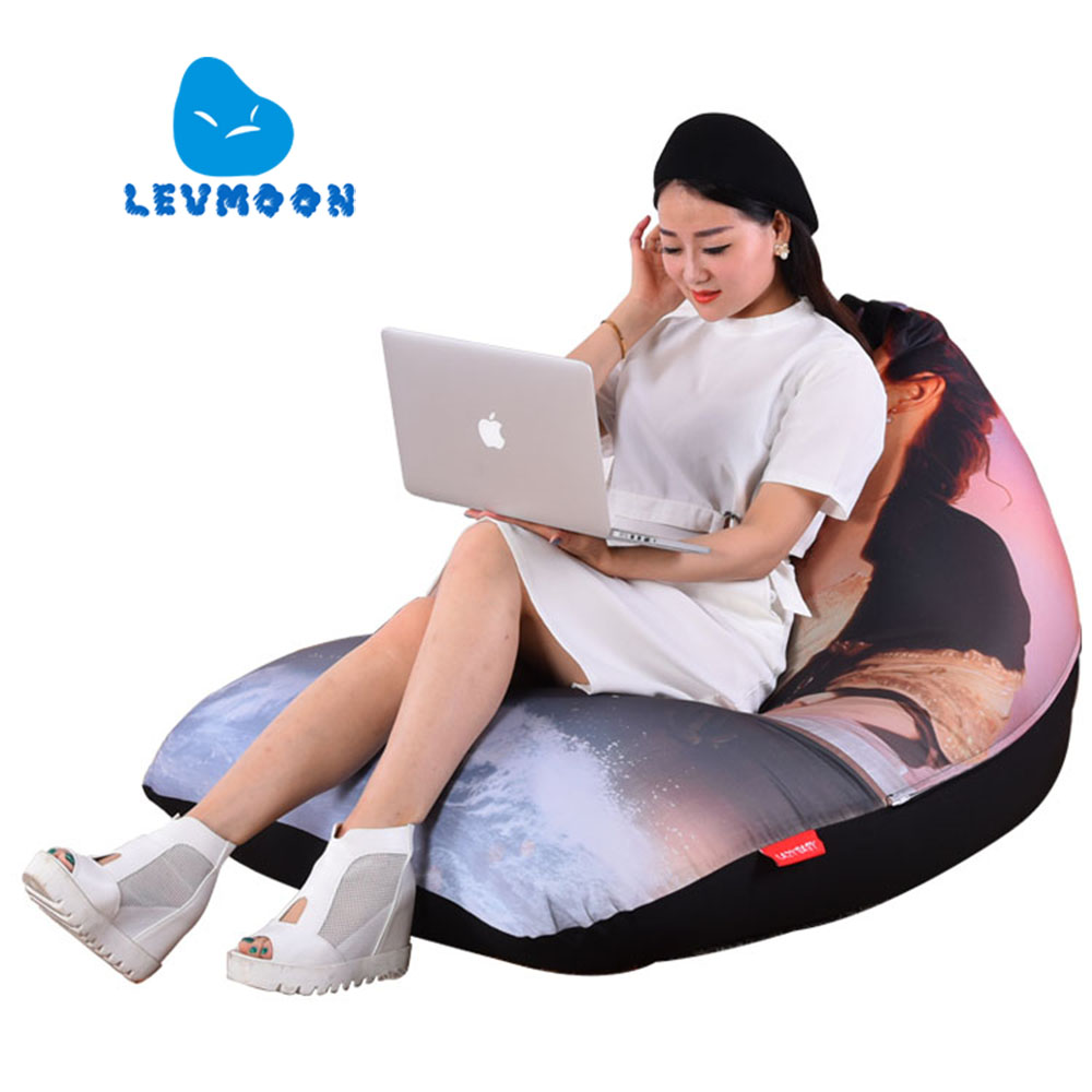 LEVMOON Beanbag Sofa Chair Titanic Seat Zac Comfort Bean Bag Bed Cover Without Filler Cotton Indoor Beanbag Lounge Chair Shell<br>