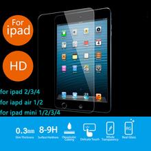 Premium Tempered Glass For iPad Air 2 1 iPad 2 3 4 Mini 1 2 3 4 Screen Protector 9H Scratch Proof Protective Glass Film