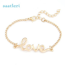 SAATLERI 1 PC Fashion Women Love Handmade Alloy Charm Jewelry Bracelet Wristband Bangle