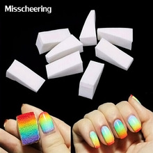 8pcs/pack White Nail Decoration Triangle Nail Tools Cute Nail Gradient Sponges Beauty Manicure Set