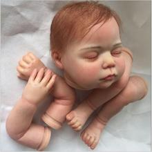 21inches Soft Silicone Reborn Kits With Mohair Doll Reborn Baby Doll Toddler Reborn Doll Kits For Doll Parts Toys Accessories