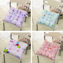 Square Seat Chair Pad 40*40cm Pearl Cotton Cushion Colorful Wave Point Design Home Comfortable Take Rest almofadas