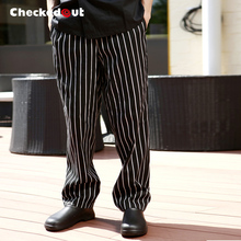 New Checkedout Cook pants 100% cotton chef trousers work pants Free Shippig chef pants cook work wear(China)
