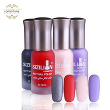 New style Professional Cute Bottle 12ml Nail Art Makeup Cosmetics 40 Colors Pigments Stamping Print Pink White Matte Nail Polish(China)