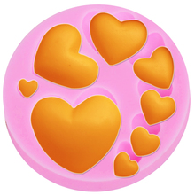 M174 3D Heart Love Silicone Mold DIY Jewelry Valentine Love Chocolate Mold Resin Polymer Clay Gumpaste Cupcake Topper(China)