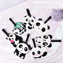 1PCS Cartoon Animal Panda Luggage Tag Travel Accessories Silicone Suitcase ID Address Holder Baggage Tag Portable Label(China)