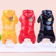 2017 New Waterproof Fabric Dog Coat Winter Dog Jumpsuit Warm Dog Clothes Cotton Dog Down Thicken Jacket For Pet WP381(China)