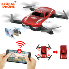 GLOBAL DRONE GW186 Foldable Mini Selfie Pocket RC Drone APP Voice Control Helicopter Altitude Hold with HD FPV Camera RC Drone