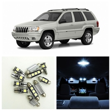 10pcs Canbus White Car LED Light Bulbs Interior Package Kit For 1999-2004 Jeep Grand Cherokee Map Dome Trunk License Plate Lamp(China)