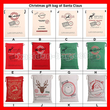 (100pcs/lot) size 50x70cm wholesale cotton canvas cotton Christmas gift bags(China)