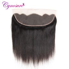 Cynosure Hair Frontal 13x4 Brazilian Straight Hair Lace Frontal 100% Human Hair Closure Non-remy Hair Free Part(China)