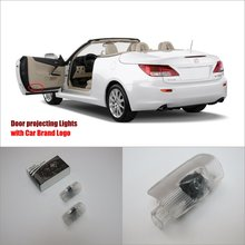 Car Door Ghost Shadow Lights For Lexus IS 2006~2014 Courtesy Doors Lamp / Brand Logo LED Projector Welcome Light(China)