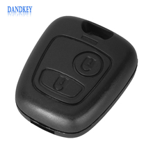 New Remote Key Case Shell Entry Fob 2 Buttons for Peugeot 106 206 306 406 without Blade Free Shipping(China)