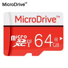 Real Capacity Micro SD cards  MicroDrive Red TF card SDHC / SDXC 64gb 32GB 16GB 8GB Memory Cards with retail box free shipping