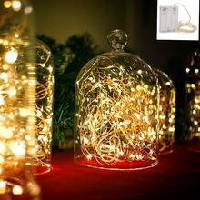 9 Colors 2M 3M 4M 5M 10M AA Battery Powered Decorative LED Silver Copper Wire Fairy String Lights for Christmas Wedding Parties(China)