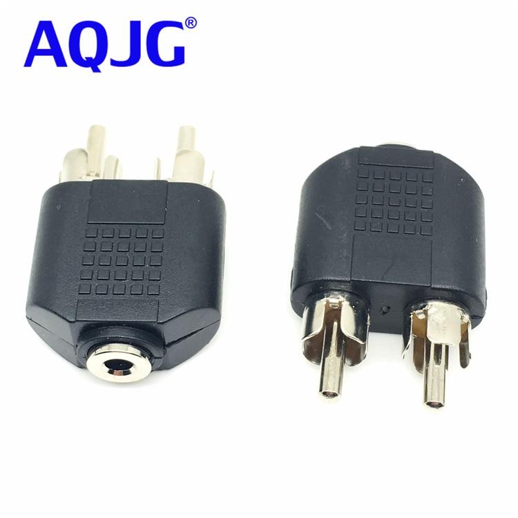 "1-RCA Plug Adapter to 2-way 1//8/"" 3.5mm Mono Jack Headphone Y Splitter"