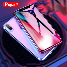 Buy ipngve Case iPhone X Transparent TPU UV Electroplating Capa Fundas Coque iPhone 7 8 Plus Clear Silicon Phone Cases for $2.99 in AliExpress store