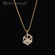 IYOE IYOE Luxury Cubic Zirconia Magic Cube Necklaces & Pendants Gold Color  Jewelry Modern Design Fashion Women Charm Necklace