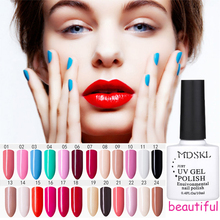 MDSKL 10ML 96 Color Pure Color Gel Varnish Soak-Off UV Gel Nail Polish Light Primer Nail Gel Polish Long-lasting Soak-off(China)