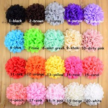 "20pcs/lot 4"" burned chiffon flower fabric flowers for diy crafts and hair accessories,making headbands,clips etc."