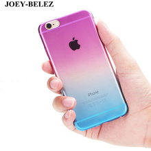 JOEY-BELEZ Coque For iPhone 6 case 6s 7 Plus case 4 4s 5 5s SE Gradient Colorful Soft TPU Silicon Phone cases for iPhone 8 Funda(China)
