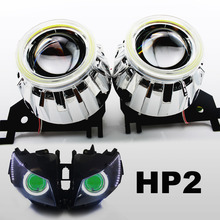 KT Headlight Fits for Honda CBR1000RR 2008-2016 LED Angel Eyes Green Demon Eyes Motorcycle HID Bi-xenon Projector Lens 13 14 15(China)