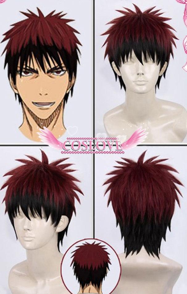 Kagami Taiga Red Black Hair Short Straight Anime Cosplay Wigs Kuroko No Basket Heat Resistance Synthetic Hair Free Shipping<br><br>Aliexpress