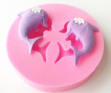 Design 808 Mini Dolphin Silicone Mold,Sugar Mold, Chocolate Mold, Cake Decoration Tool