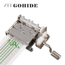 Gohide A Brand New Music Movement DIY Tune Hand Crank Mechanical Musical Box with Hole Puncher 3-Note Paper Make Your Own Song