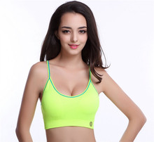 High Quality New Crop Top Breathable Push up Bra Padded Fitness Stretch Underwear No Bound Women Push Up Bras Padding(China)
