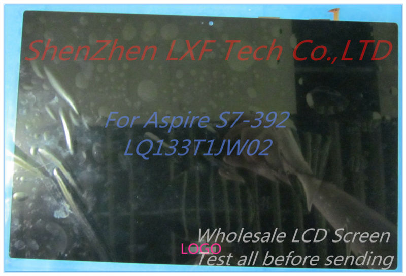 Original New 13.3 inches LQ133T1JW02 For Acer  Aspirre S7- 392 LCD Touch Screen Digitizer Assembly LQ133T1JW02 2560*1440<br><br>Aliexpress