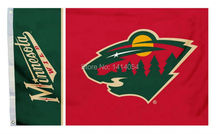 Minnesota Wild Team Logo Flag 150X90CM NHL 3X5FT Banner 100D Polyester custome009, free shipping(China)