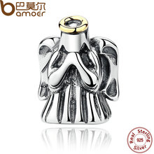 BAMOER New 925 Sterling Silver Fashion Romantic Divine Guardian Angel Protective Charms Fit Bracelets Accessories PAS276(China)